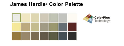 James Hardie Color Palette